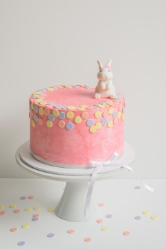 Buttercream Confetti with Bunny Topper