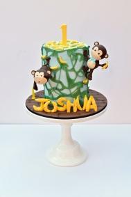 Monkey jungle birthday cake
